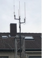Antennenmasten zum Selbstabbau