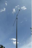 Leichtes stabiles GFK Steckmast System 2x7m