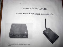 2,4GHZ Video / Audio RX mit Zubehör