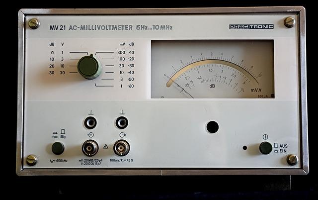 Präcitronic AC Millivoltmeter