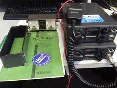 2x ICOM IC-240 2m FM Mobilgeräte