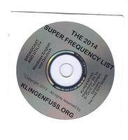 Klingenfuss Super Frequenzliste 2014