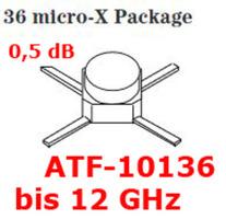 GaAsFET ATF- 10136, bis 12 Ghz, 0,5dB, extrem rauscharmer Transistor!, neu, Ant-Elementhalter